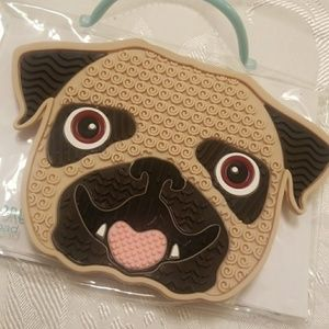 Pug face makeup brush cleaning pad